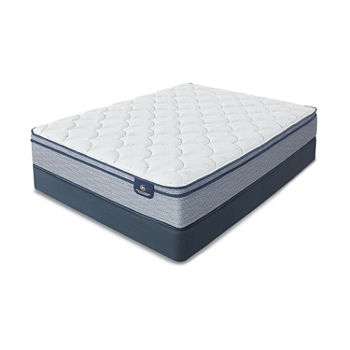 Serta® Lux Armisted Plush Eurotop - Mattress + Box Spring