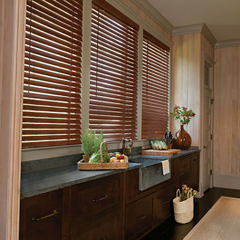 "LEVOLOR Real Wood 2"" Custom Cordless Wood Blinds"