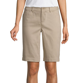 St. John's Bay Womens Mid Rise Bermuda Short-Tall