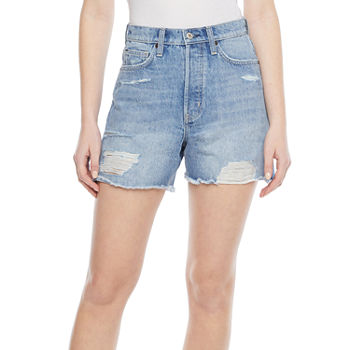 Arizona Womens High Rise Midi Short-Juniors