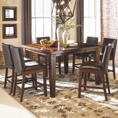 Signature Design By Ashley® Larchmont 7 Piece Counter Height Dining