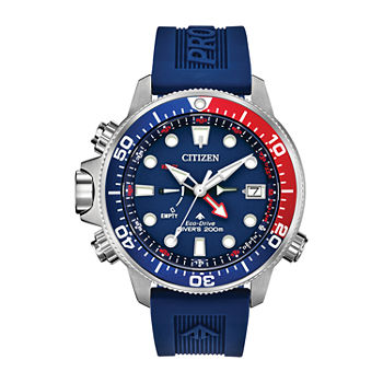 Citizen Promaster Aqualand Mens Blue Strap Watch-Bn2038-01l