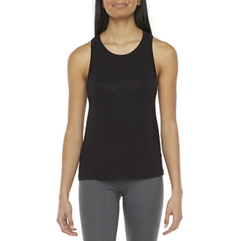 Flirtitude Juniors Womens Round Neck Sleeveless Tank Top