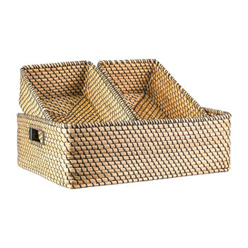Baum Set of 3 Natural Seagrass Decorative Basket