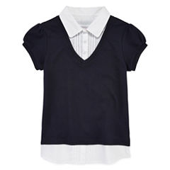 IZOD® Short-Sleeve Layered Look Top - Preschool Girls 4-6x