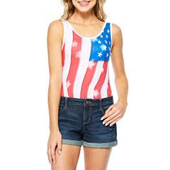 Americana Flag Bodysuit-Juniors