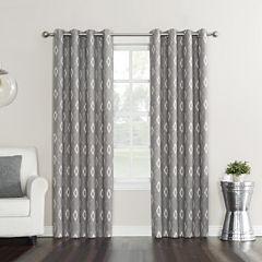 Sun Zero Elda Room-Darkening Grommet-Top Curtain Panel