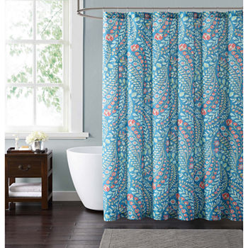 beige and blue shower curtain. Blue  33 15 Shower Curtains For Bed Bath JCPenney