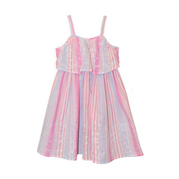 Nannette Baby Toddler Girls Sleeveless Striped A-Line Dress