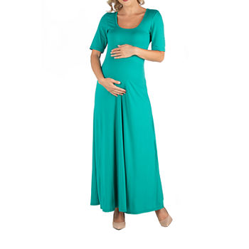 24/7 Comfort Apparel Casual Maxi Dress with Sleeves