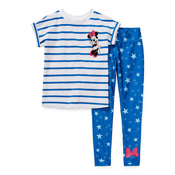 Disney Collection Little & Big Girls 2-pc. Minnie Mouse Legging Set