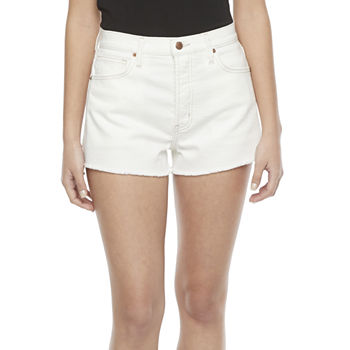 Arizona Womens High Rise Pull-On Short-Juniors