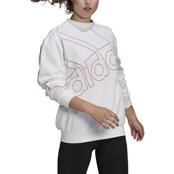 Adidas Giant Logo Sweatshirt Crew Neck Long Sleeve Sweatshirt