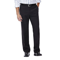 Haggar® eCLo™ Stria Classic-Fit Flat-Front Dress Pants