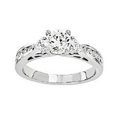 1 1/5 CT. T.W. Diamond 14K White Gold 3-Stone Ring