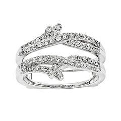 1/2 CT. T.W. Diamond 14K White Gold Ring Guard
