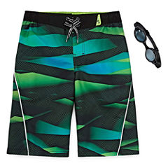 Zero Xposur Boys Print Swim Trunks-Big Kid