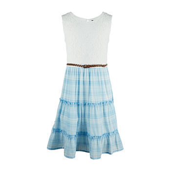 by&by girl Girls Belted Sleeveless Fit & Flare Dress