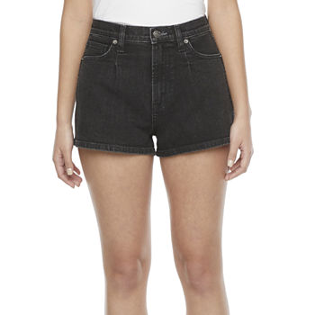 "Arizona Womens High Rise 4 1/4"" Denim Short-Juniors"