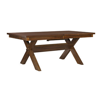 Lanson Collection Rectangular Wood-Top Dining Table