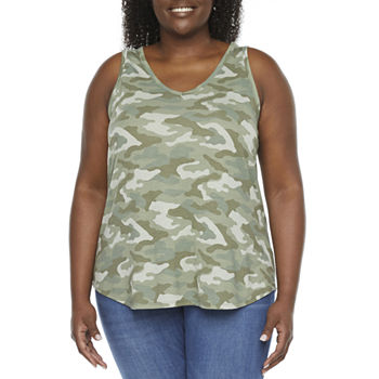 a.n.a-Plus Womens Swing Tank Top