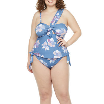 Mynah Plus One Shoulder Tankini and Hipster Bottom