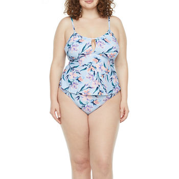 Mynah Plus Keyhole Tankini and High Leg Hipster