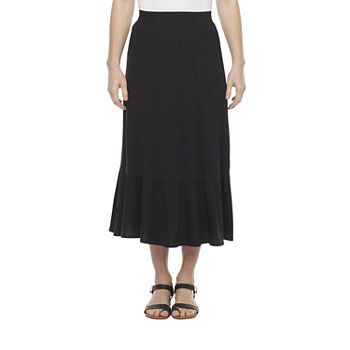 St. John's Bay Womens Midi Tiered Skirt