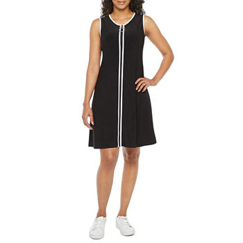 MSK-Petite Sleeveless Shift Dress