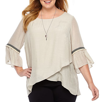 425e3e466795e5 Alyx Plus Size Tops for Women - JCPenney