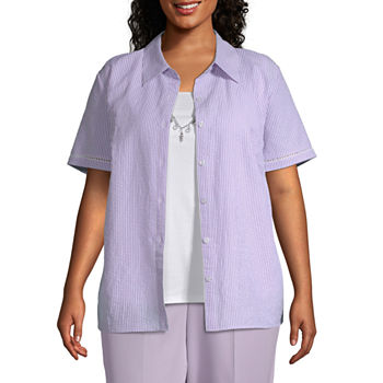 5ad0d43108 Alfred Dunner Plus Size Tops for Women - JCPenney