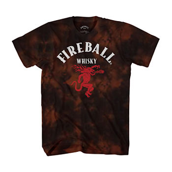 Big and Tall Fireball Cloud Wash Mens Short Sleeve Graphic T-Shirt