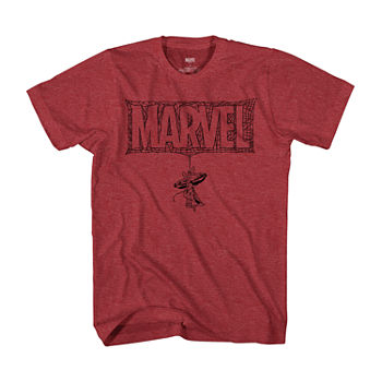 Big and Tall Marvel Logo Hanging Spiderman Mens Short Sleeve Graphic T-Shirt