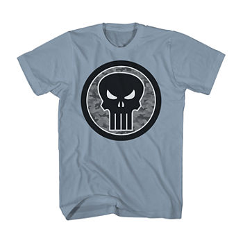 Big and Tall Marvel Punisher Logo Mens Short Sleeve Graphic T-Shirt