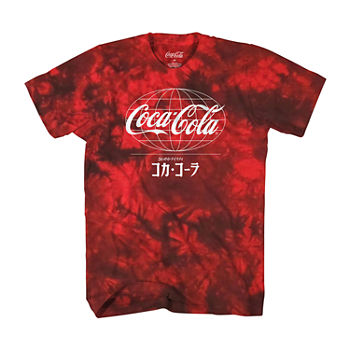 Big and Tall Enjoy Coke Worldwide Cloud Wash Mens Short Sleeve Graphic T-Shirt