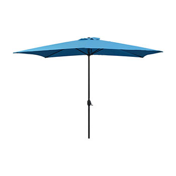 10ft. Rectangle Crank and Tilt Patio Umbrella