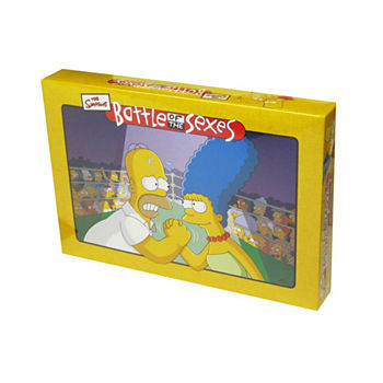 University Games Battle of the Sexes - The Simpsons Edition Board Game