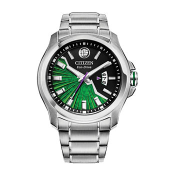 Citizen Marvel Hulk Mens Silver Tone Stainless Steel Bracelet Watch - Aw1351-56w