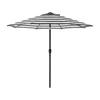9ft. Striped Crank and Tilt Round Patio Umbrella