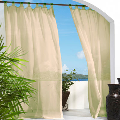 escape hook and loop tabtop outdoor curtain panel