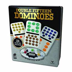 Cardinal Double Fifteen Color Dot Dominoes