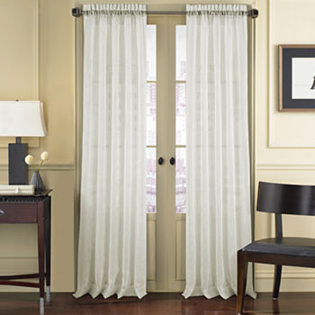 Queen Street Remy Sheer Rod-Pocket Single Curtain Panel