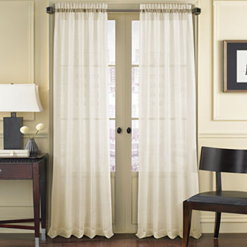 Queen Street Summit Sheer Rod-Pocket Single Curtain Panel