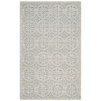 safavieh iris wool rectangular rug - 6x9 Rugs