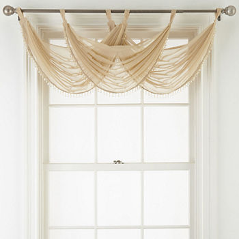 Tab Top Beige Kitchen Curtains for Window - JCPenney