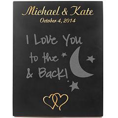 Cathy's Concepts Custom Double Heart Wedding Chalkboard Sign