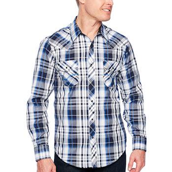 e8f8f0fb Mens Western Shirts, Pearl Snap Shirts, Mens Denim Shirts - JCPenney