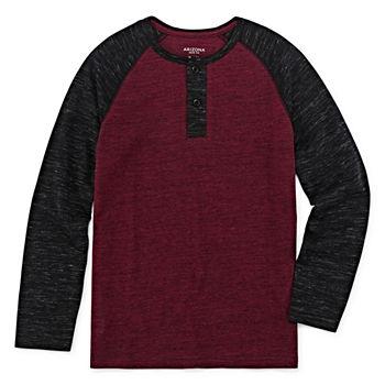 051429bb067 Arizona Boys Henley Neck Short Sleeve T-Shirt Preschool / Big Kid