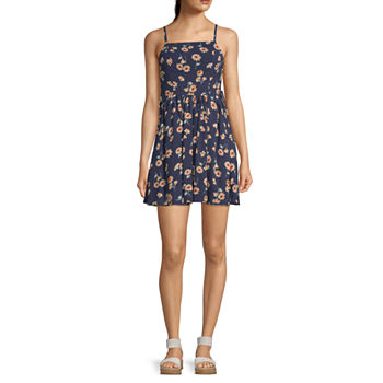 My Michelle Sleeveless Babydoll Dress-Juniors