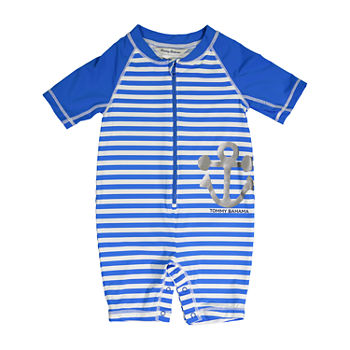 Tommy Bahama Baby Boys Striped One Piece Swimsuit